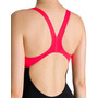 arena Essentials Swim Pro Back Badeanzug Damen black/fluo red
