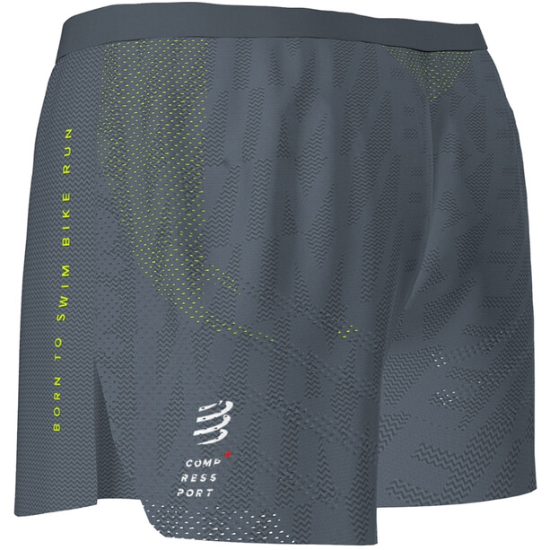 Compressport Racing Split Shorts Born To SwimBikeRun 2020 Herren grey
