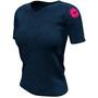 Compressport Training Kurzarm Badges T-Shirt Mont Blanc 2020 Damen blue