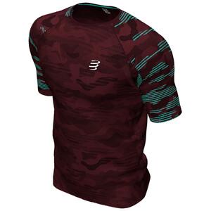 Compressport Training Kurzarm T-Shirt Camo Neon 2020 Herren camo burgundy camo burgundy