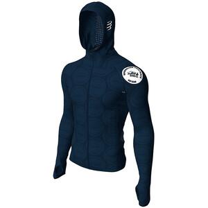 Compressport 3D Thermo Seamless Zip Hoodie Mont Blanc 2020 Herren blue blue