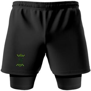 Compressport Racing 2-in-1 Shorts Camo Neon 2020 jungle green jungle green