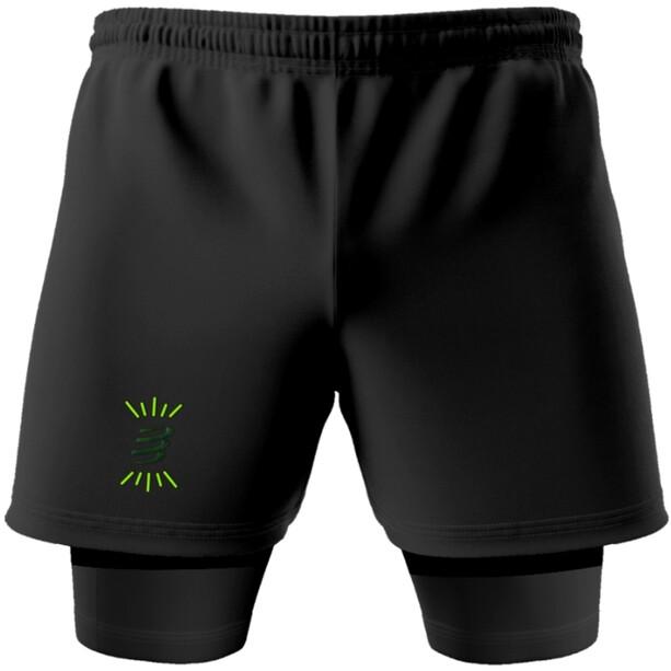 Compressport Racing 2-in-1 Shorts Camo Neon 2020, vihreä