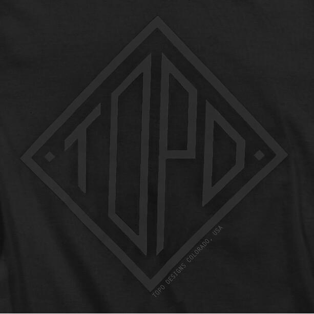 Topo Designs Diamond T-Shirt Herren schwarz