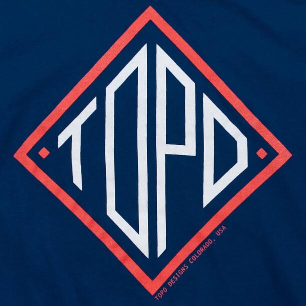 Topo Designs Diamond T-shirt Heren, blauw