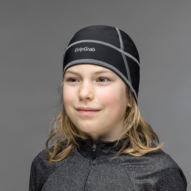 GripGrab Thermo Helmmütze Kinder black