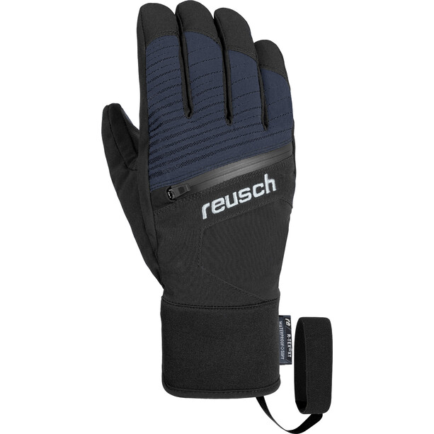 Reusch Theo R-TEX XT Handschuhe black melange/safety yellow/brilliant blue