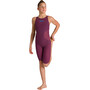 arena Powerskin R-Evo One Full Body Short Leg Open Back Badeanzug Mädchen red wine/turquoise