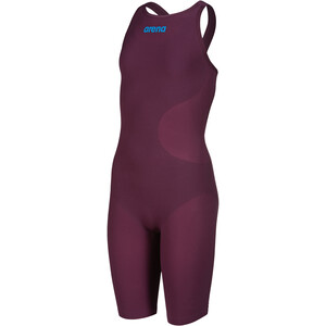 arena Powerskin R-Evo One Full Body Short Leg Open Back Badeanzug Mädchen red wine/turquoise red wine/turquoise