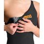 arena Powerskin Carbon Glide Full Body Short Leg Open Back Badeanzug Damen black/gold