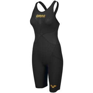 arena Powerskin Carbon Glide Full Body Short Leg Open Back Badeanzug Damen black/gold black/gold