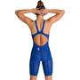 arena Powerskin Carbon Glide Combinaison courte dos nu Femme, bleu
