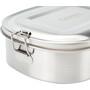 CAMPZ Edelstahl Lunch Box L 1000ml silber