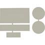 CAMPZ Nylon Reparaturflicken 5 Stück light grey