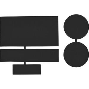 CAMPZ Pièces de réparation en nylon 5 pièces, noir noir