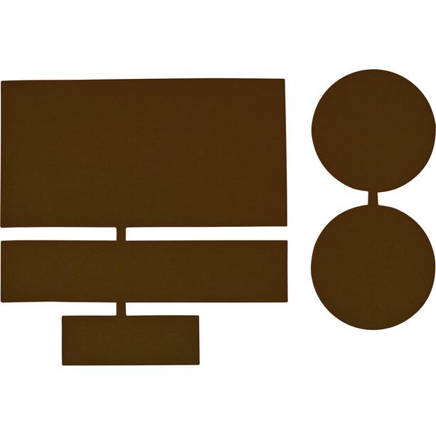 CAMPZ Pièces de réparation en nylon 5 pièces, marron