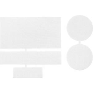 CAMPZ Pièces de réparation en nylon 5 pièces, blanc blanc
