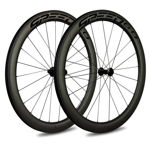 Veltec Speed 6.0 Rennrad Laufradsatz 63mm Rim Brake QR XDR black