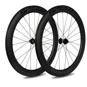 Veltec Speed 6.0 Rennrad Laufradsatz 60mm Disc Brake QR Shimano black black