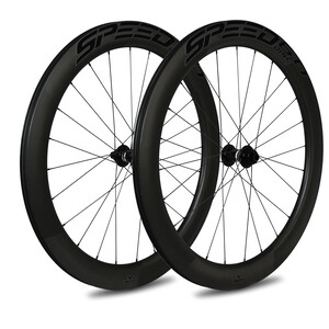 Veltec Speed 6.0 Set Ruedas Carretera 60mm Freno de Disco QR XDR, negro negro