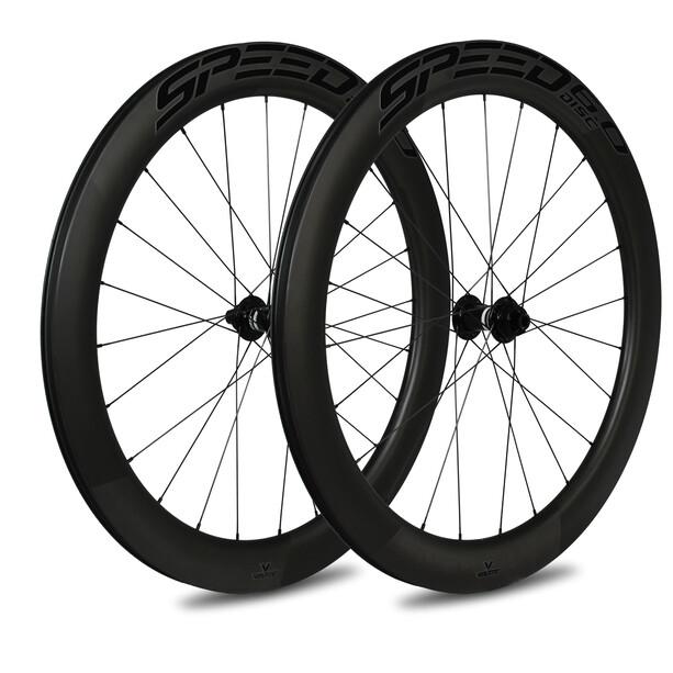 Veltec Speed 6.0 Rennrad Laufradsatz 60mm Disc Brake 12x100mm/12x142mm XDR black