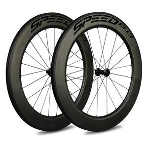 Veltec Speed 8.0 Rennrad Laufradsatz 83mm Rim Brake QR Shimano schwarz schwarz