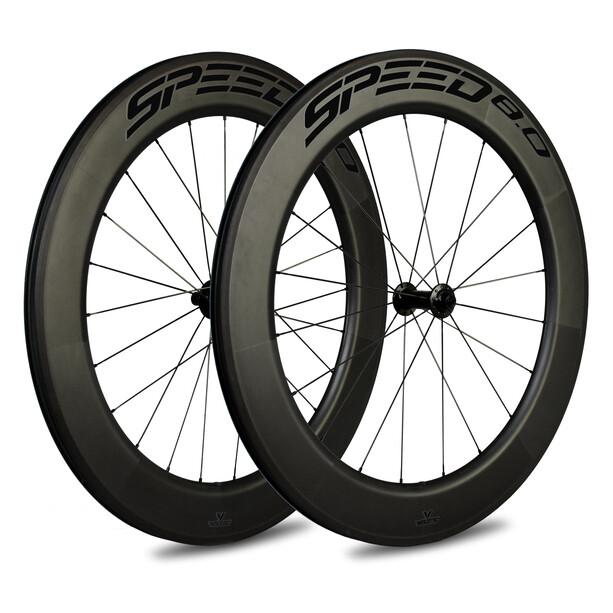 Veltec Speed 8.0 Rennrad Laufradsatz 83mm Rim Brake QR Shimano black