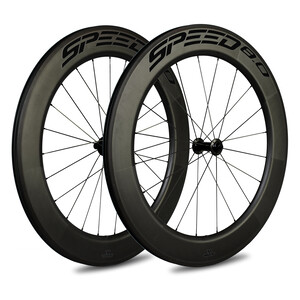 Veltec Speed 8.0 Rennrad Laufradsatz 83mm Rim Brake QR XDR black black