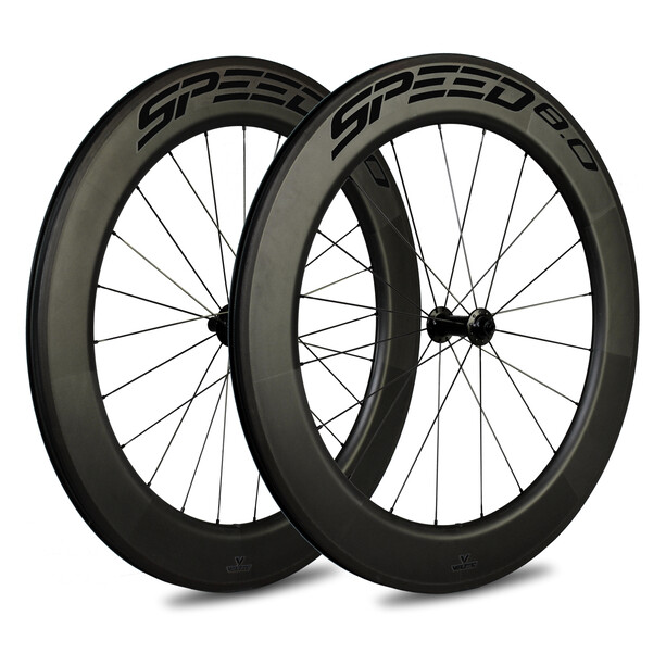 Veltec Speed 8.0 Rennrad Laufradsatz 83mm Rim Brake QR XDR black