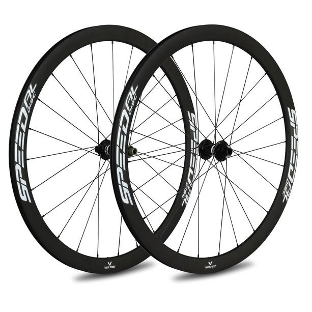 Veltec Speed AL Rennrad Laufradsatz 40mm Disc Brake 12x100mm/12x142mm Shimano white