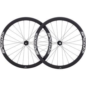 Veltec Speed AL Set Ruedas Carretera 40mm Freno de Disco 12x100mm/12x142mm Shimano, negro negro