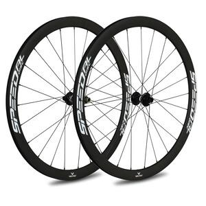 Veltec Speed AL Rennrad Laufradsatz 40mm Disc Brake 12x100mm/12x142mm XDR white white