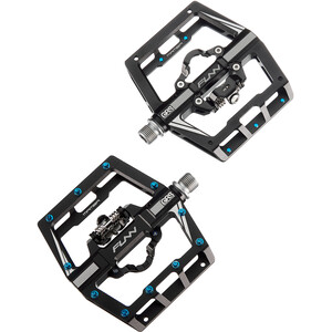 FUNN Mamba SS Pedales con One-Side Clip/One-Side Plano, negro negro
