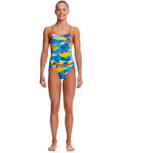 Funkita Eco Diamond Back One Piece Swimsuit Girls beach bum beach bum