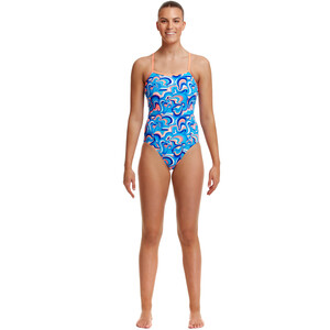 Funkita Eco Single Strap One Piece Badeanzug Damen double scoop double scoop