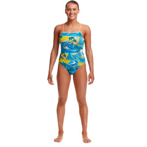 Funkita Eco Single Strap One Piece Badeanzug Damen summer bay summer bay