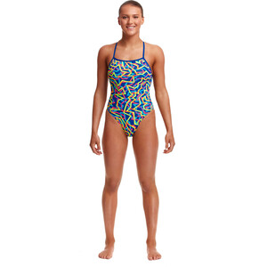 Funkita Strapped In One Piece Badeanzug Damen noodle bar noodle bar