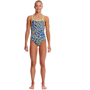 Funkita Strapped In One Piece Badeanzug Mädchen noodle bar noodle bar