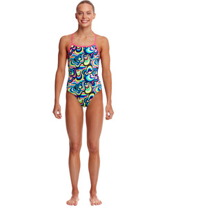 Funkita Eco Strapped In One Piece Swimsuit Girls gelat omg gelat omg