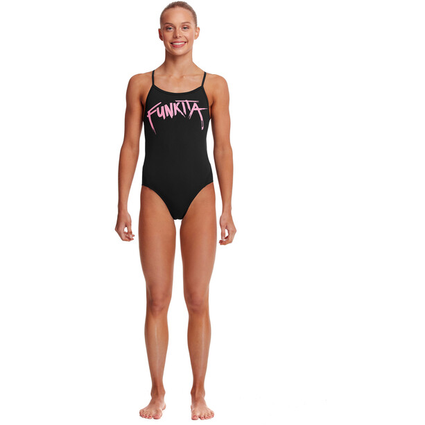 Funkita Twisted One Piece Badeanzug Mädchen pinked