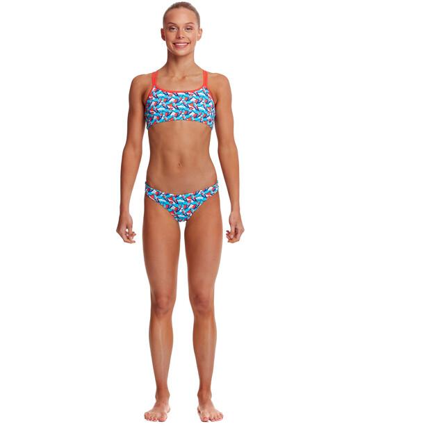 Funkita Criss Cross Zweiteiliger Bikini Mädchen bunt