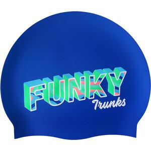 Funky Trunks Silicone Schwimmkappe blau blau