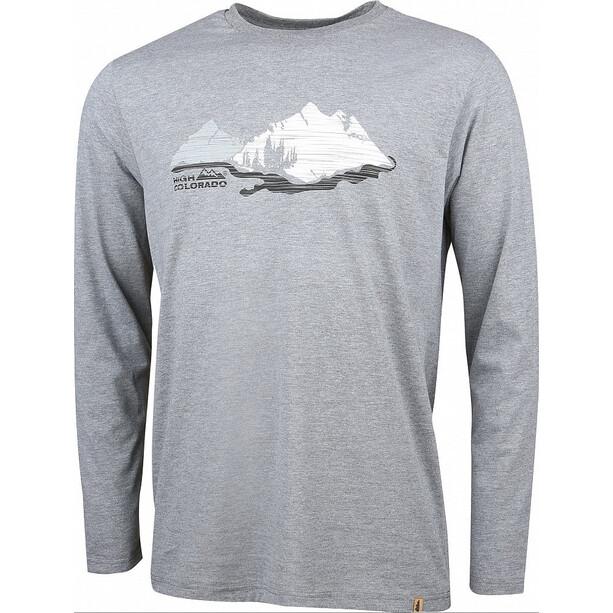 High Colorado Wallis 5 Langarmshirt Herren grey melange