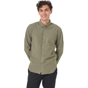 tentree Veddar Flanell Langarmhemd Herren olive night green olive night green