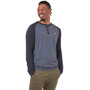 tentree Henley Classic Langarmshirt Herren gargoyle grey heather/meteorite black heather