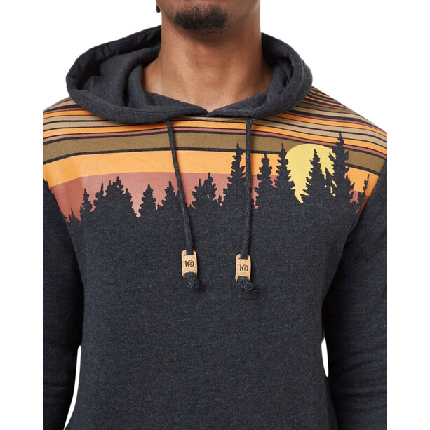 tentree Retro Juniper Classic Hoodie Herren meteorite black heather