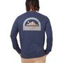 tentree Adventure Classic Langarm Rundhalsshirt Herren dark ocean blue heather
