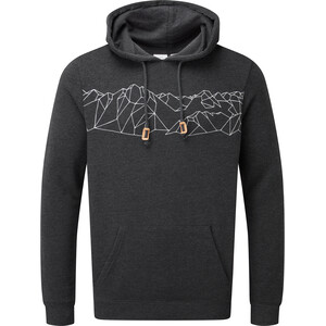 tentree Geo Mountain Classic Pull à capuche Homme, gris gris