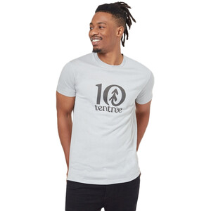 tentree Tentree Logo Classic T-Shirt Herren hi rise grey heather hi rise grey heather