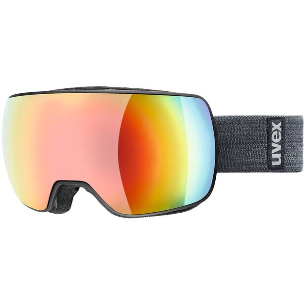 UVEX Compact FM Goggles black mat/mirror rainbow